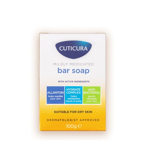 Cuticura Mildly Medicated Bar Soap, 100g
