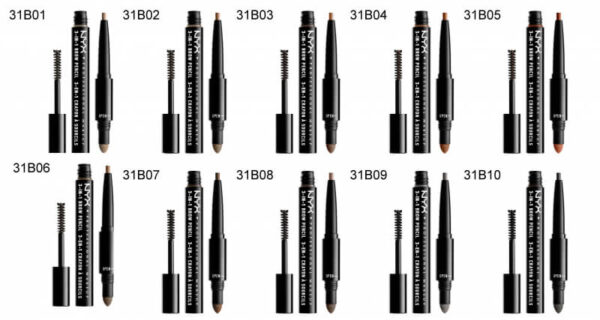 NYX Professional Makeup 3-in-1 Brow Pencil - 09 Charcoal