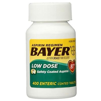 Bayer Aspirin Regiment Bayer Low Dose 81mg 400 Coated Tablets