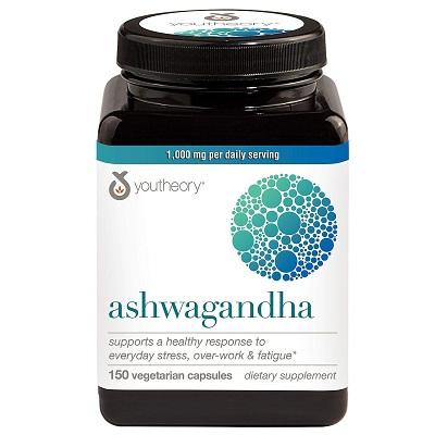 Youtheory Ashwagandha 1000 mg 150 Vegetarian Capsules