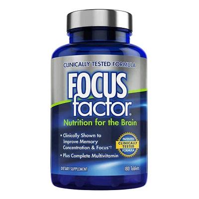 Focus Factor Brain Supplement Multivitamin For Men and Women 180 Tablets