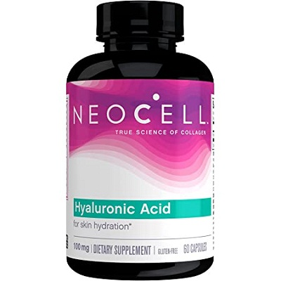 NeoCell Hyaluronic Acid, Daily Hydration for Skin Suppleness 60 Capsules