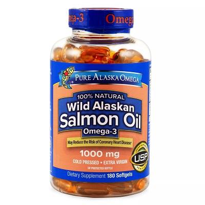 Pure Alaska Omega-3 Wild Alaskan Salmon Oil 1000mg 180-Ct