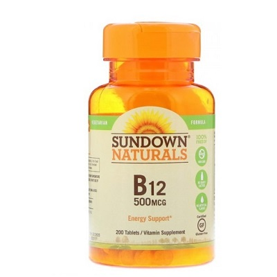 Sundown Natural Vitamin B12 500mcg - 200 Tablets