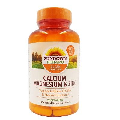 Sundown Natural Calcium Magnesium and Zinc - 100 Caplets at Manmohni